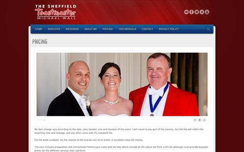 Screenshot of Pricing Page thesheffieldtoastmaster.co.uk - PRICING | The Sheffield Toastmaster - Michael Wall - captured Oct. 20, 2018