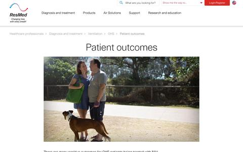 Patient outcomes for OHS treatment | ResMed