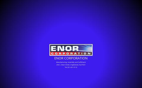 Screenshot of Home Page enor.com - Enor Corporation | Manufacturing, Assembly and Fulfillment - captured Nov. 10, 2018