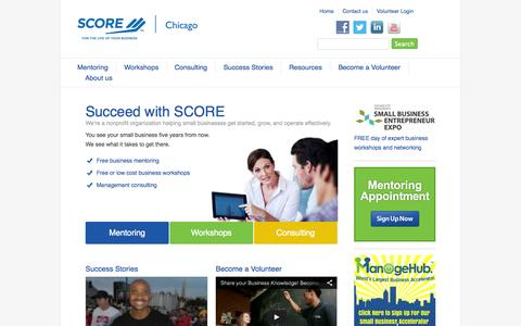 Screenshot of Press Page scorechicago.org - SCORE Chicago - Counseling, workshops, advice and business plans - captured Sept. 22, 2014