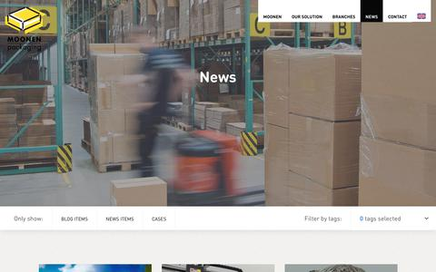 Screenshot of Press Page moonenpackaging.com - News | Moonen Packaging - captured Sept. 20, 2018