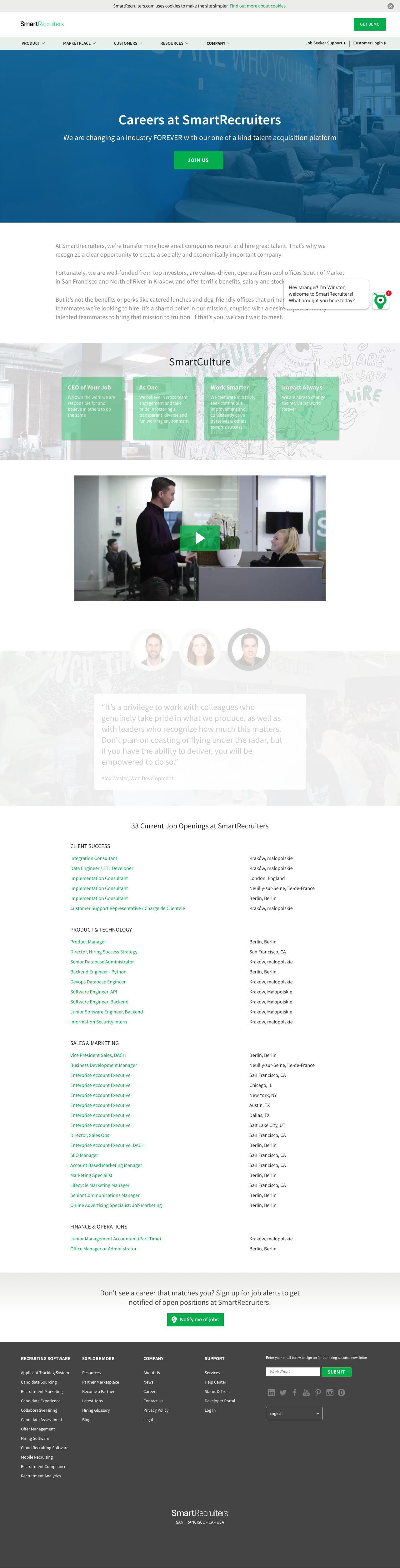 Screenshot of smartrecruiters.com - Careers | SmartRecruiters - captured Oct. 17, 2018