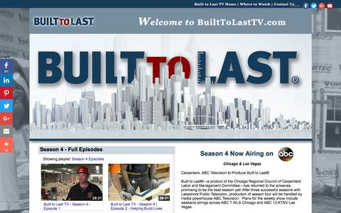 Screenshot of Home Page builttolasttv.com - Built to Last TV | New Construction TV Series - captured Oct. 11, 2017