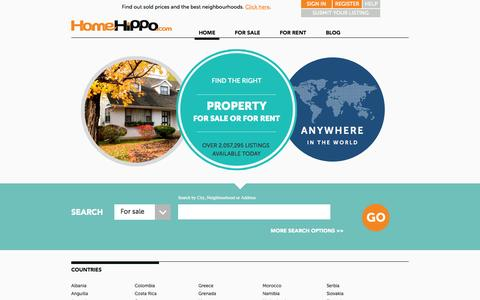 Screenshot of Pricing Page homehippo.com - Homes for Sale, Apartments for Rent, Condos and overseas properties. Advertise Real Estate. - captured Oct. 2, 2015