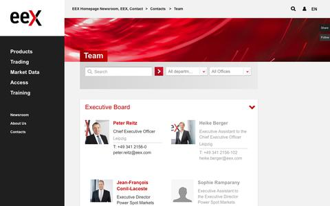 Screenshot of Team Page eex.com - Team - captured Nov. 11, 2016