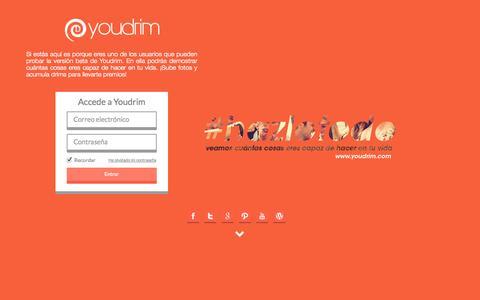 Screenshot of Home Page youdrim.com - Youdrim | Hazlo Todo - captured Jan. 21, 2015