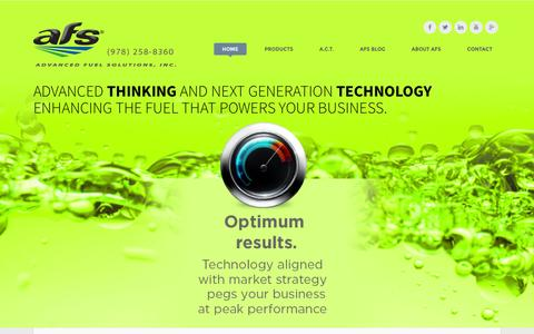 Screenshot of Home Page yourfuelsolution.com - Advanced Fuel Solutions Inc. - captured Feb. 5, 2016