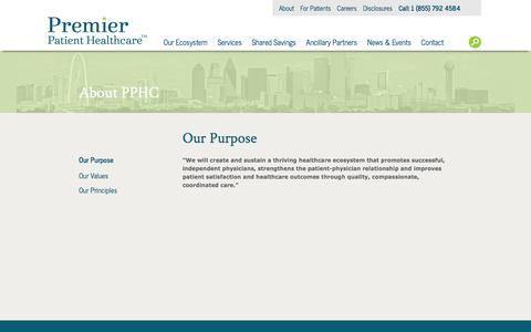 Screenshot of About Page premierphc.com - Premier Patient Health Care :: About Us - captured Nov. 11, 2016