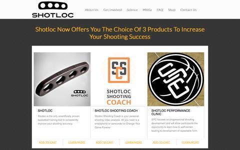 Screenshot of Login Page shotloc.com - Basketball Shooting Aids, Basketball Shooting Performance | Shotloc - captured Oct. 3, 2014