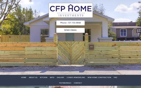 Screenshot of FAQ Page cfphomes.com - FAQ | CFP Home Investments - captured Sept. 25, 2018