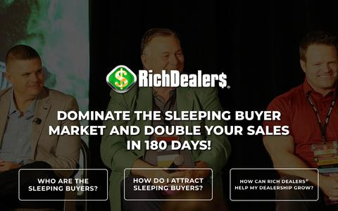Screenshot of Home Page richdealers.com - Rich Dealers | Dominate Your Market - captured Aug. 13, 2018