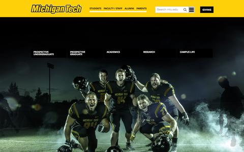 Screenshot of Home Page mtu.edu - Michigan Technological University - captured Oct. 8, 2015