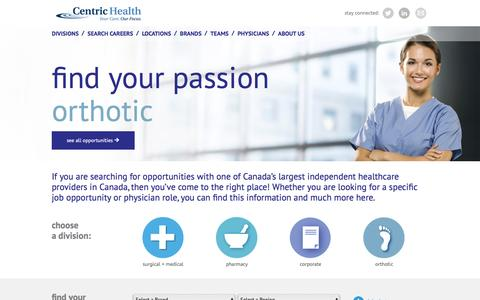 Screenshot of About Page Locations Page jobvite.com - Centric Health Careers - captured May 25, 2016