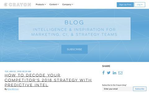 Screenshot of Blog crayon.co - Crayon Blog – Marketing Insights and Inspiration - captured Jan. 12, 2018