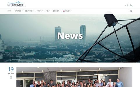 Screenshot of Press Page hidromod.com - News   Hidromod - captured July 8, 2017