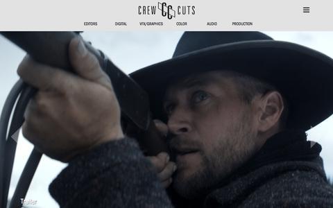 Screenshot of Home Page crewcuts.com - Crew Cuts   NYC Edit & Post - captured Sept. 12, 2017