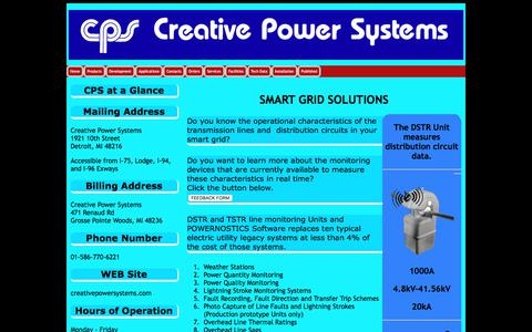 Screenshot of Home Page creativepowersystems.net - Creative Power Systems - captured July 23, 2018