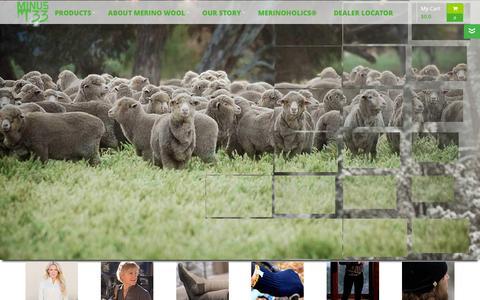 Screenshot of Home Page minus33.com - Minus33 ® Merino Wool Clothing, Wool Underwear, Wool Socks Accessories - captured Feb. 13, 2016