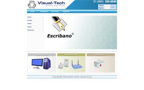 Screenshot of Home Page visual-tech.mx - Visual-Tech Software Development - captured Oct. 7, 2014