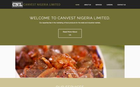 Screenshot of Home Page canvest.net - Canvest - Nigeria Limited - captured Oct. 1, 2014