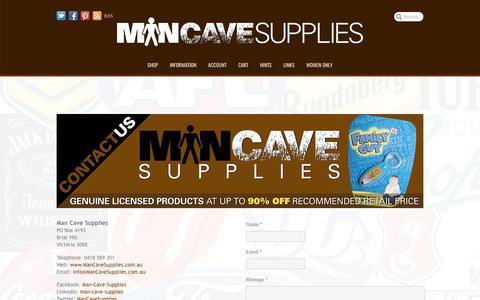 Screenshot of Contact Page mancavesupplies.com.au - Man Cave Supplies | Contact Us - captured May 28, 2017