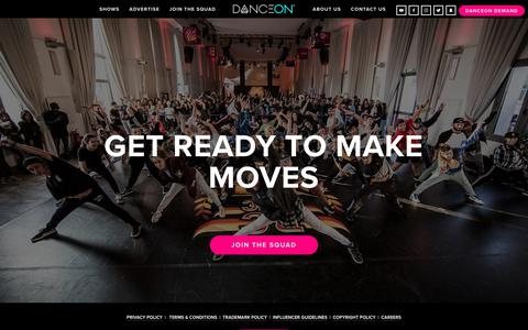 Screenshot of Signup Page danceon.com - JOIN THE SQUAD — DanceOn - captured Nov. 6, 2018