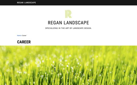Screenshot of Jobs Page reganlandscape.com - Career - Regan Landscape - captured Sept. 20, 2018