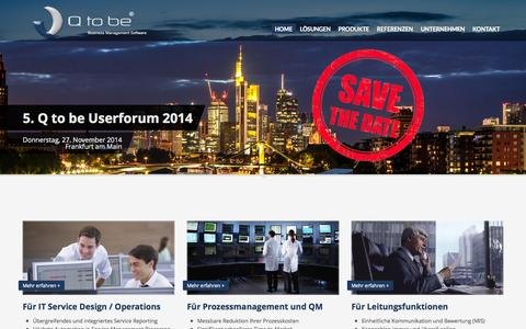 Screenshot of Home Page qtobe.com - HOME - captured Oct. 1, 2014