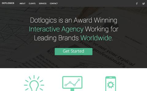 Screenshot of Home Page dotlogics.com - New York Website Design & Development Company, NYC Web Services - captured Nov. 3, 2015