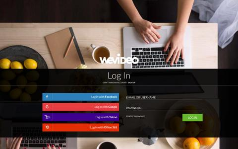 Screenshot of Login Page wevideo.com - Login - WeVideo - captured Dec. 7, 2015