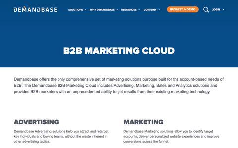 Account-Based Marketing – Demandbase   B2B Marketing Cloud :: Account-Based Marketing – Demandbase