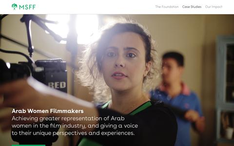 Screenshot of Case Studies Page themsff.org - Case Studies | The MSFF - captured Oct. 18, 2018