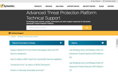 Advanced Threat Protection Platform Technical Support