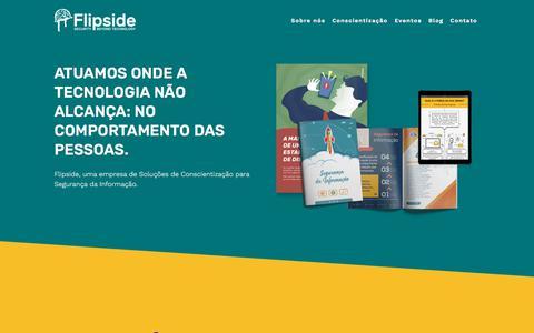 Screenshot of Home Page flipside.com.br - Flipside - captured July 10, 2018
