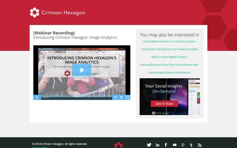 Screenshot of Landing Page crimsonhexagon.com - Crimson Hexagon Webinar - captured March 3, 2018