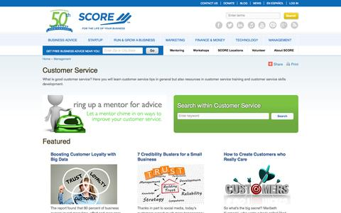 Screenshot of Support Page score.org - All Customer Service - captured Sept. 18, 2014