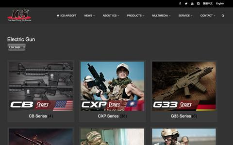 Screenshot of Products Page icsbb.com - Electric Gun | Product Categories | ICS AIRSOFT - captured Feb. 3, 2016