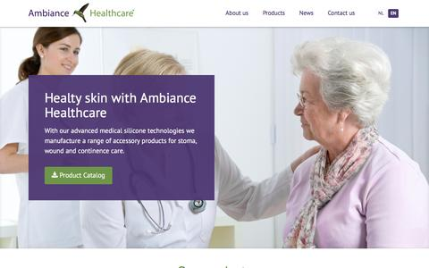 Screenshot of Home Page ambiancehealthcare.com - Stoma Wound and Incontinence care | Ambiance Healthcare - captured Feb. 6, 2016