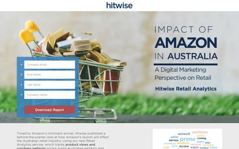 Screenshot of Landing Page connexity.com - Impact of Amazon in Australia | Hitwise - captured Sept. 13, 2017
