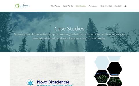 Screenshot of Case Studies Page cushmancreative.com - Cushman Creative Case Studies - captured Dec. 14, 2015