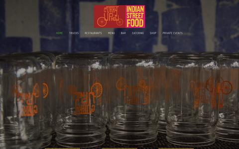Screenshot of Home Page curryupnow.com - Indian Restaurant Bar Catering & Food Trucks | Curry Up Now - captured Jan. 21, 2015