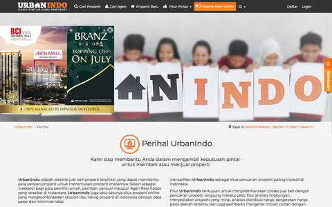 Screenshot of About Page urbanindo.com - Perihal - captured June 20, 2017