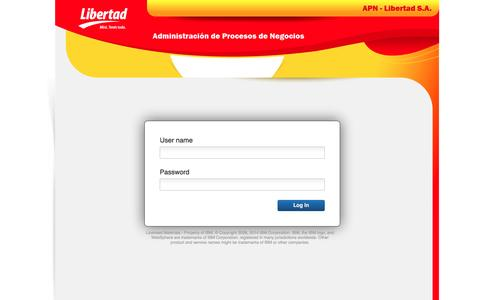 Screenshot of Login Page libertadsa.com.ar - Process Portal - captured May 13, 2017