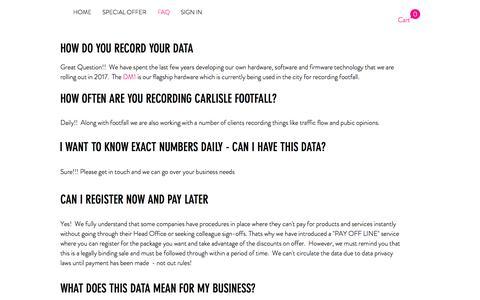 Screenshot of FAQ Page datamait.com - datamait | FAQ - captured June 3, 2017