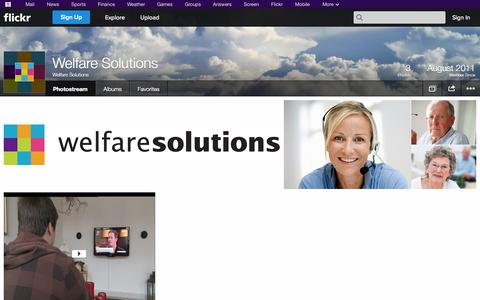 Screenshot of Flickr Page flickr.com - Flickr: Welfare Solutions' Photostream - captured Oct. 22, 2014