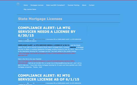Screenshot of Blog thomas-law.com - State Mortgage Licenses - captured Nov. 17, 2017