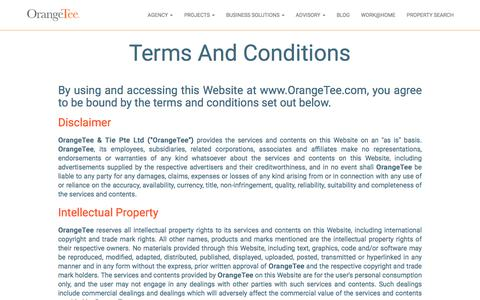 Screenshot of Terms Page orangetee.com - Terms of Use - captured Sept. 24, 2018