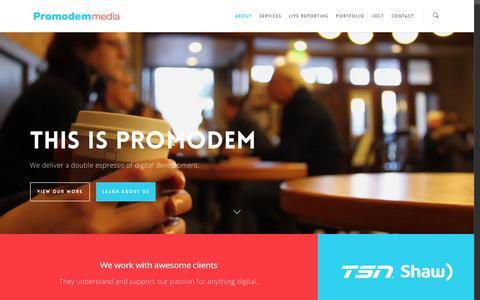 Screenshot of About Page promodem.com - About - Promodem Media - captured Jan. 29, 2016