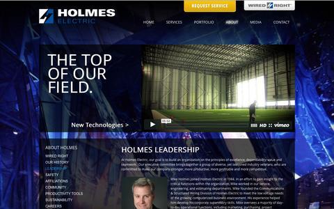 Screenshot of Team Page holmes.com - Holmes Electric  Leadership - captured Jan. 31, 2016