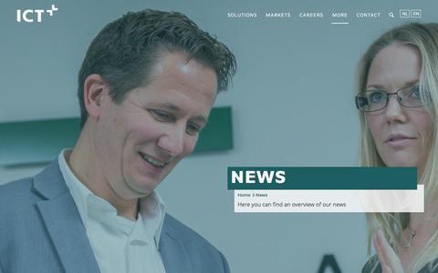 Screenshot of Press Page ict.eu - News | ICT - captured Jan. 24, 2016